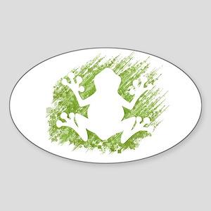 Tree Frog Sticker (Oval)