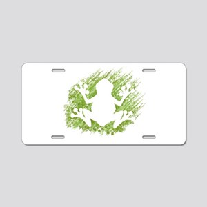 Tree Frog Aluminum License Plate
