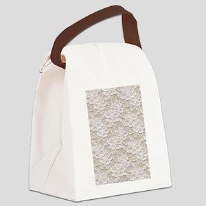 Vintage Floral Lace Canvas Lunch Bag
