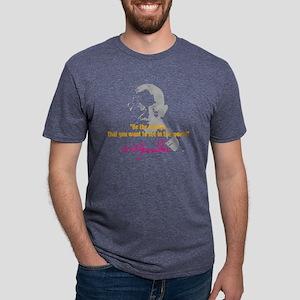 gandhiA1 Mens Tri-blend T-Shirt