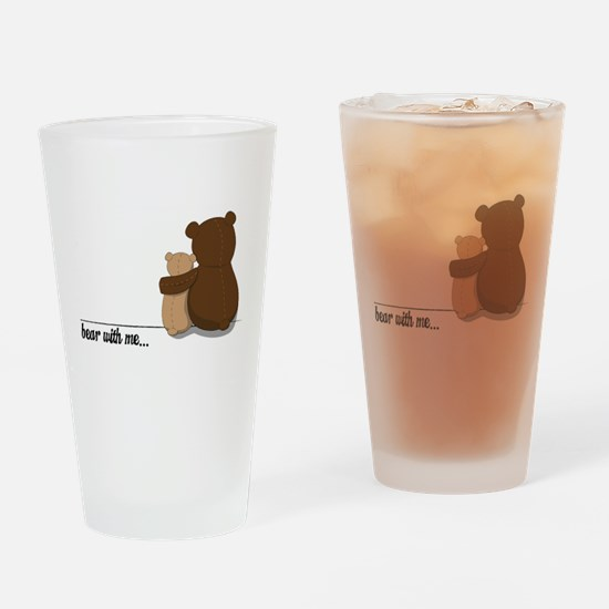 Bear with Me Design Drinking Glass