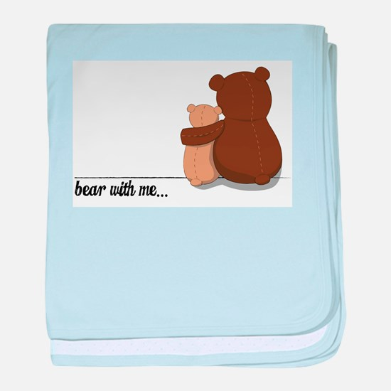 Bear with Me Design baby blanket
