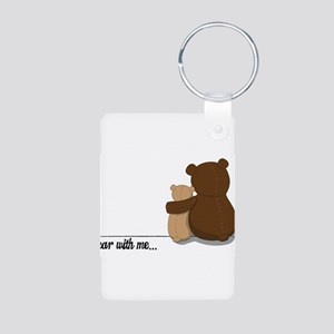 Bear with Me Design Aluminum Photo Keychain