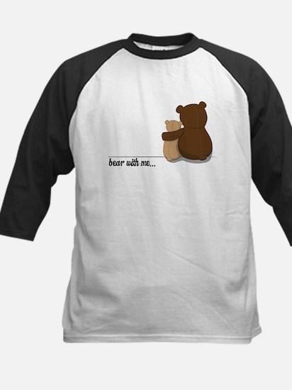 Bear with Me Design Kids Baseball Jersey