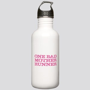 One Bad Mother Runner Pink Stainless Water Bottle