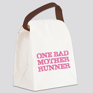 One Bad Mother Runner Pink Canvas Lunch Bag