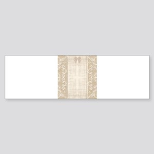Vintage Lace Stationary Bow Sticker (Bumper)