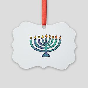 Menorah Picture Ornament