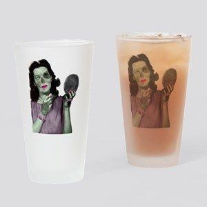 Pin Up Zombie Girl Drinking Glass