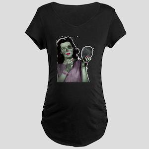 Pin Up Zombie Girl Maternity Dark T-Shirt