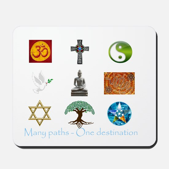 Many paths - One destination Mousepad