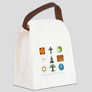 Many paths - One destination Canvas Lunch Bag