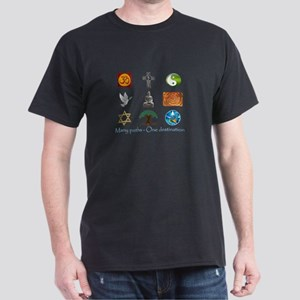 Many paths - One destination Dark T-Shirt