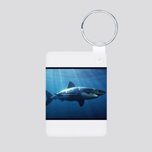 Great White Shark Aluminum Photo Keychain