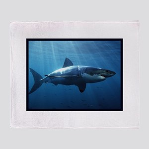 Great White Shark Throw Blanket