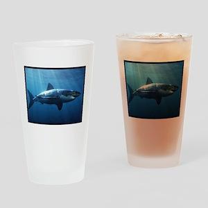 Great White Shark Drinking Glass