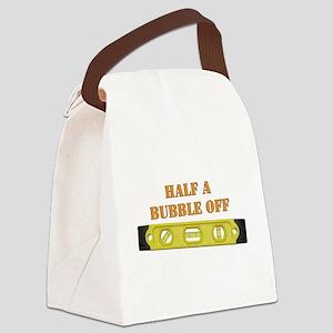 Half A Bubble Off Canvas Lunch Bag