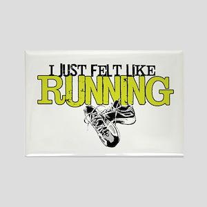 Felt Like Running Rectangle Magnet