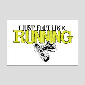 Felt Like Running Mini Poster Print