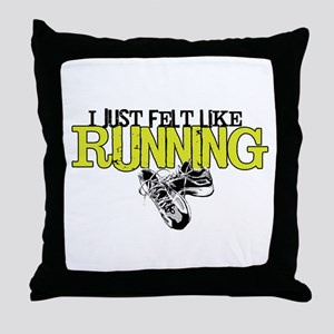 Felt Like Running Throw Pillow