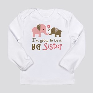 Big Sister to be - Mod Elephant Long Sleeve T-Shir