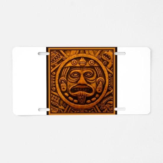 Aztec Calendar Dec 21 2012 Aluminum License Plate