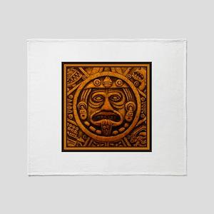 Aztec Calendar Dec 21 2012 Throw Blanket