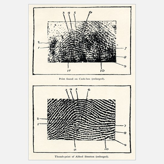 Fingerprint evidence, 1905 murder case