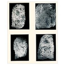 Fingerprints made visible with ink Poster