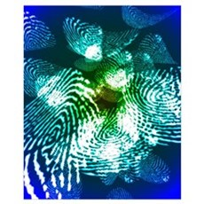 Fingerprints, computer artwork Canvas Art