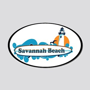 Savannah Beach GA - Surf Design. 20x12 Oval Wall D