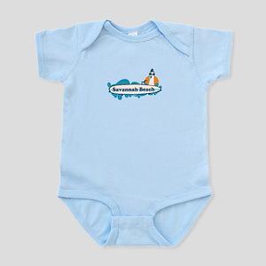 Savannah Beach GA - Surf Design. Infant Bodysuit