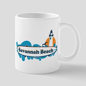 Savannah Beach GA - Surf Design. Mug