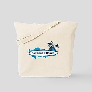 Savannah Beach GA - Surf Design. Tote Bag