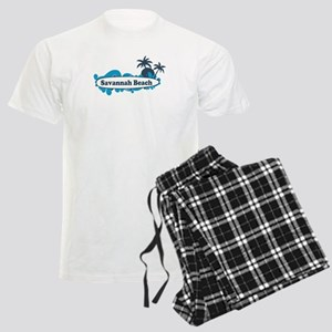 Savannah Beach GA - Surf Design. Men's Light Pajam