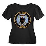 USS BOWEN Women's Plus Size Scoop Neck Dark T-Shir