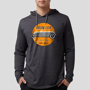 Motor City Speed Custom HotRod T Mens Hooded Shirt
