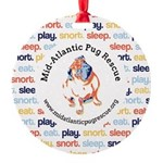 play.eat.snort.sleep. Round Ornament