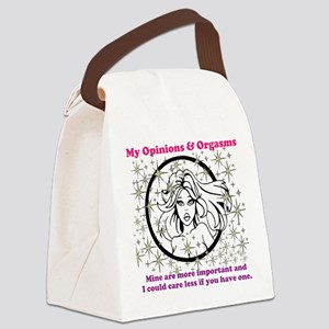 My Opinions Canvas Lunch Bag