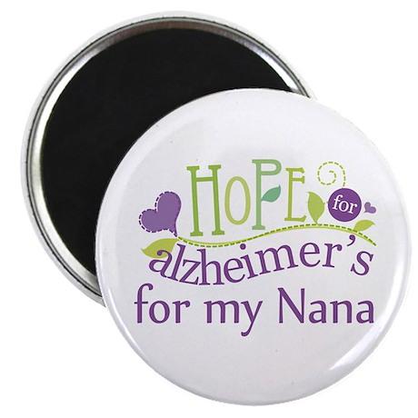 """Alzheimers Hope For Nana 2.25"""" Magnet (10 pack)"""
