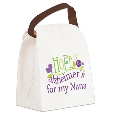Alzheimers Hope For Nana Canvas Lunch Bag