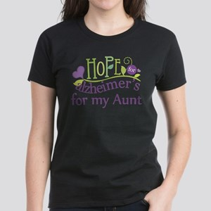 Hope For Alzheimers For My Aunt Women's Dark T-Shi