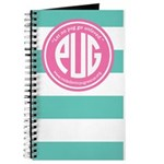 (preppy) pink teal iphone case Journal