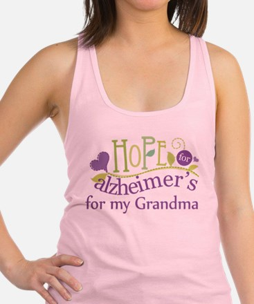 Hope For Alzheimers Grandma Racerback Tank Top