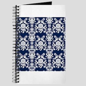 Navy Blue Damask Journal