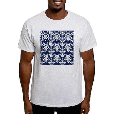 Navy Blue Damask Light T-Shirt