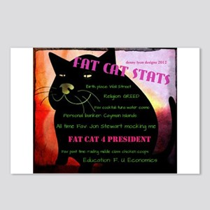 Fat Cat Stats Postcards (Package of 8)