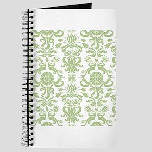 Pale Green Damask Journal