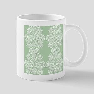 Light Green Damask Mug