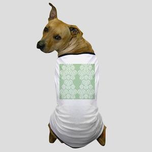 Light Green Damask Dog T-Shirt